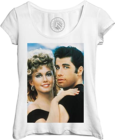 Fabulous T Shirt Femme Photo de Stars Célébrités John Travolta et Olivia Newton Grease Original 3