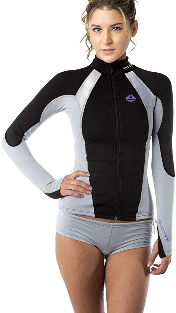 New Women's LavaCore Elite Stand Up Paddleboard (SUP) Jacket - Grey (Large) for Scuba Diving, Surfing, Kayaking, Rafting & Paddling: Clothing