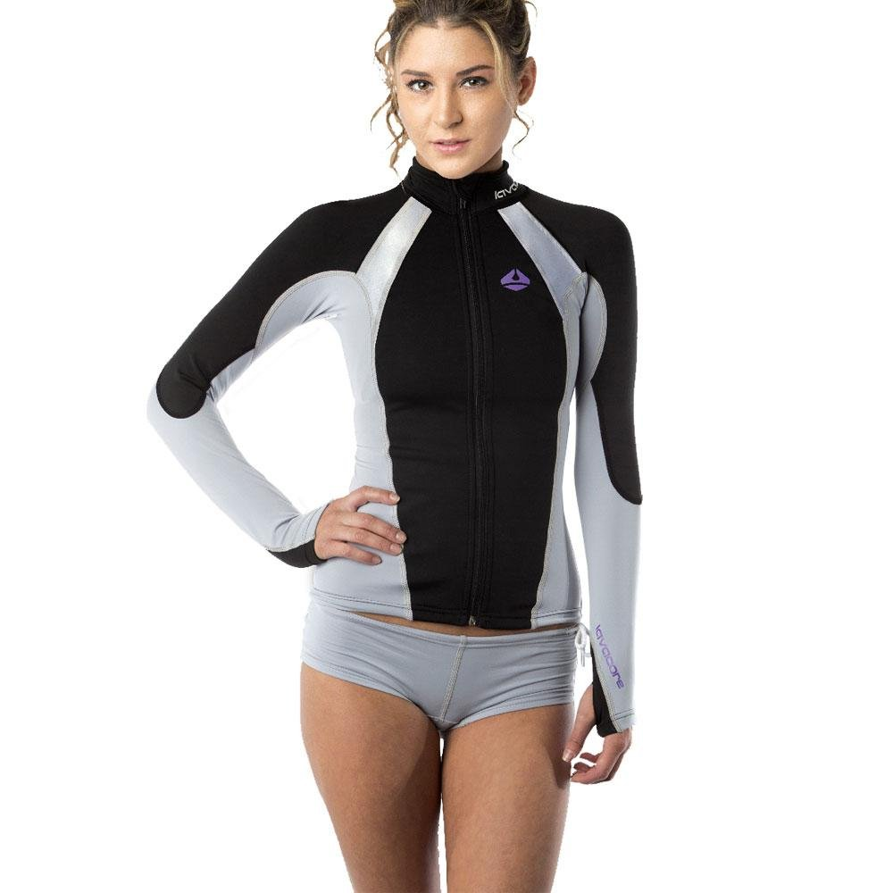 Lavacore New Women's Elite Stand Up Paddleboard (SUP) Jacket - Grey (Size X-Small) for Scuba Diving, Surfing, Kayaking, Rafting & Paddling