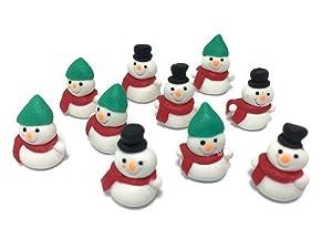 Lot of 10 Miniature Snowman Fairy Garden Supplies Figurine Furniture Dollhouse GD#008
