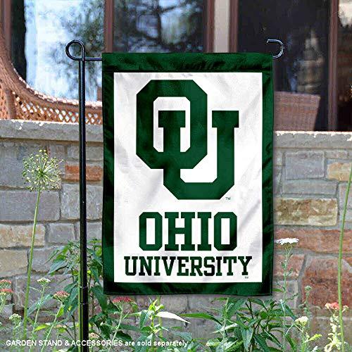 College Flags and Banners Co. Ohio Bobcats OU Logo Garden Flag (Ou Logo)