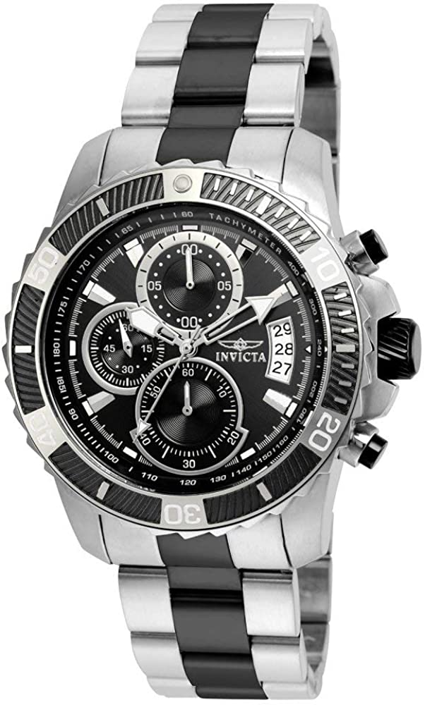 Invicta Men s Pro Diver Quartz Watch with Stainless-Steel Strap, Two Tone, 22 Model 22416