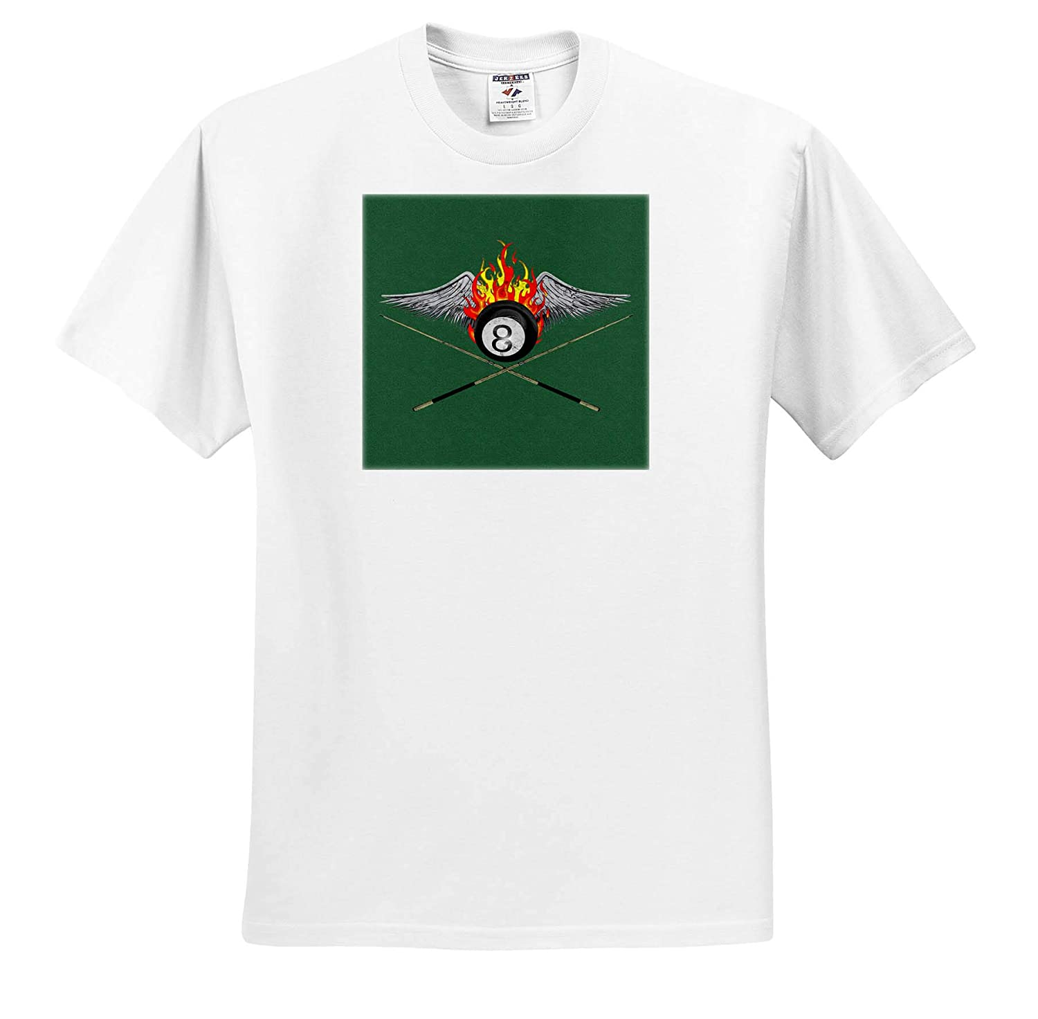 8-Ball Billiards 3dRose Macdonald Creative Studios - T-Shirts Games A Billiard Graphic for Anyone who Plays Pool