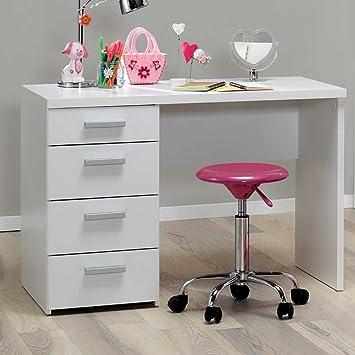 Pharao24 Kinderzimmer Schreibtisch in Weiß 110 cm breit: Amazon.de ...