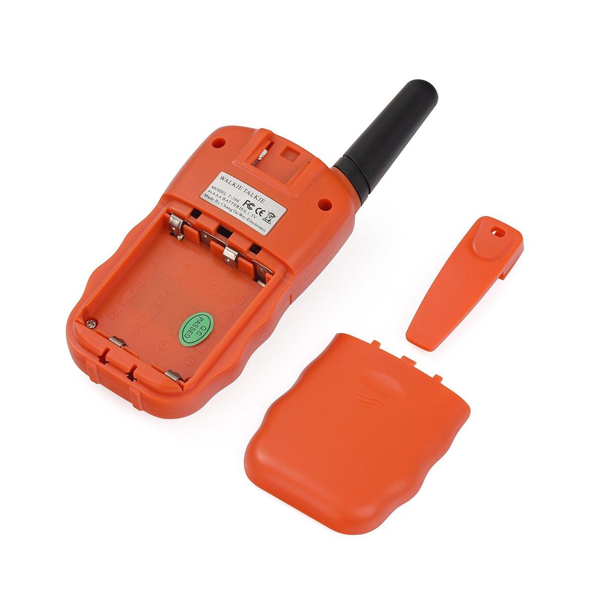 AKKU Wiederaufladbare T-388 Funkger/ät f/ür M/ädchen Jungen Kinder 2x Kids smart Walkie Talkies inkl Orange
