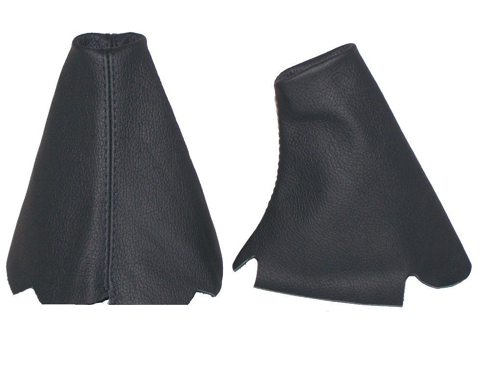 The Tuning-Shop Ltd SET OF 2 GAITERS CUSTOM MADE BOOTS BLACK GENUINE ITALIAN LEATHER