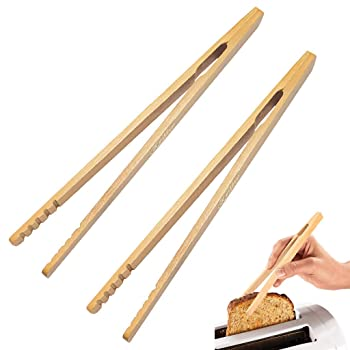 GKanMore Bamboo Kitchen Tongs
