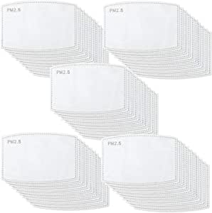 30PCS Adult PM2.5 Activated Carbon Filter Insert 5 Layers Replaceable Anti Haze Masks Filter (30 PACK)
