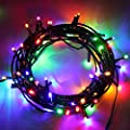 200 LEDs Christmas String Light 65 Ft (20 M), MaLivent 8 Functions Modes Fairy Lights Battery Starry Copper Wire Lights Decorative Low Voltage Power Decorative for Christmas Tree, Halloween(Colorful)