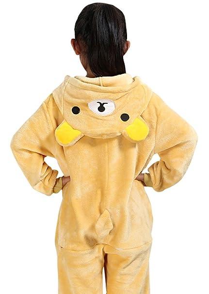 KSFJV Children Anime Unisex Pijamas,Fácilmente Oso,85cm