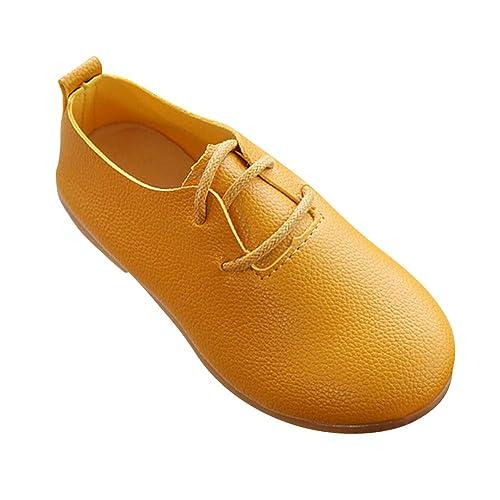 Tenthree Zapatos Vestir Planos Niña - Mocasines Ocio Zapatos de Cuero Niños Cabeza Redonda Suave Sandalias Princesa Escolar Planos Zapatos de Vestir: ...