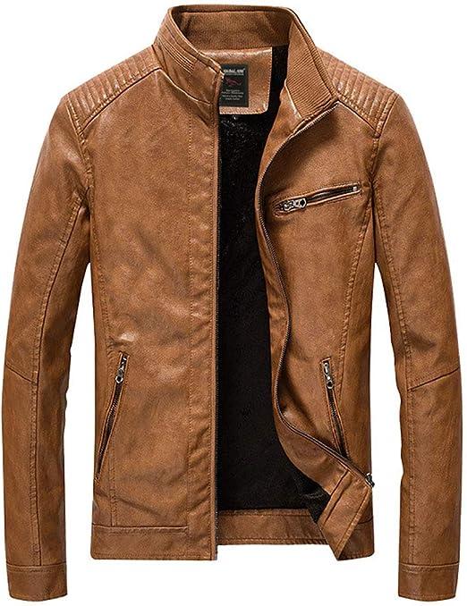 メンズフェイクレザーシックジャケット、バイクオートバイPUレザートランジションバイカージャケット、コートスリムフィットスタンドカラー