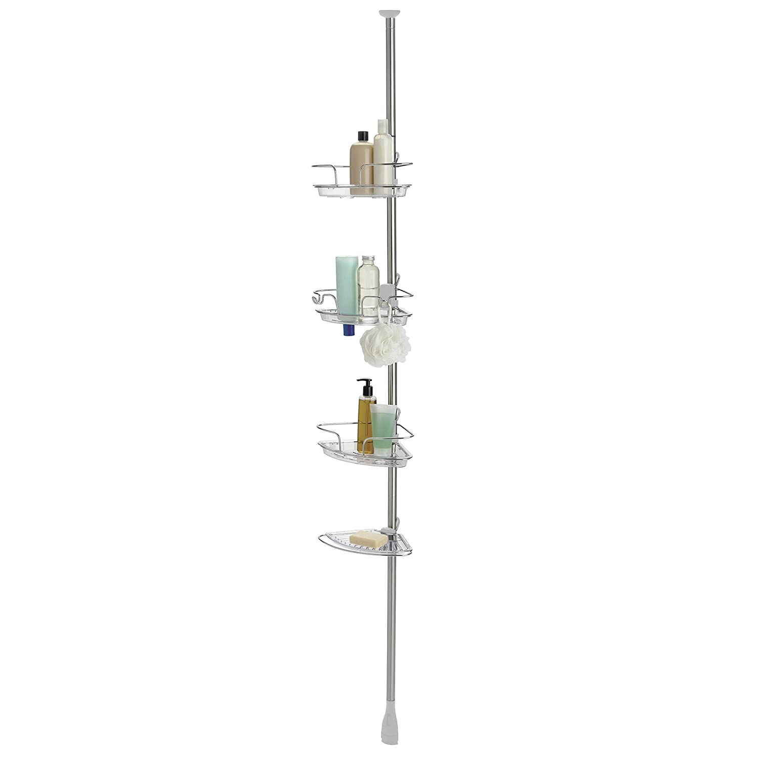 "CDM product OXO Good Grips Lift and Lock Pole Caddy, Stainless Steel, 60"" big image"