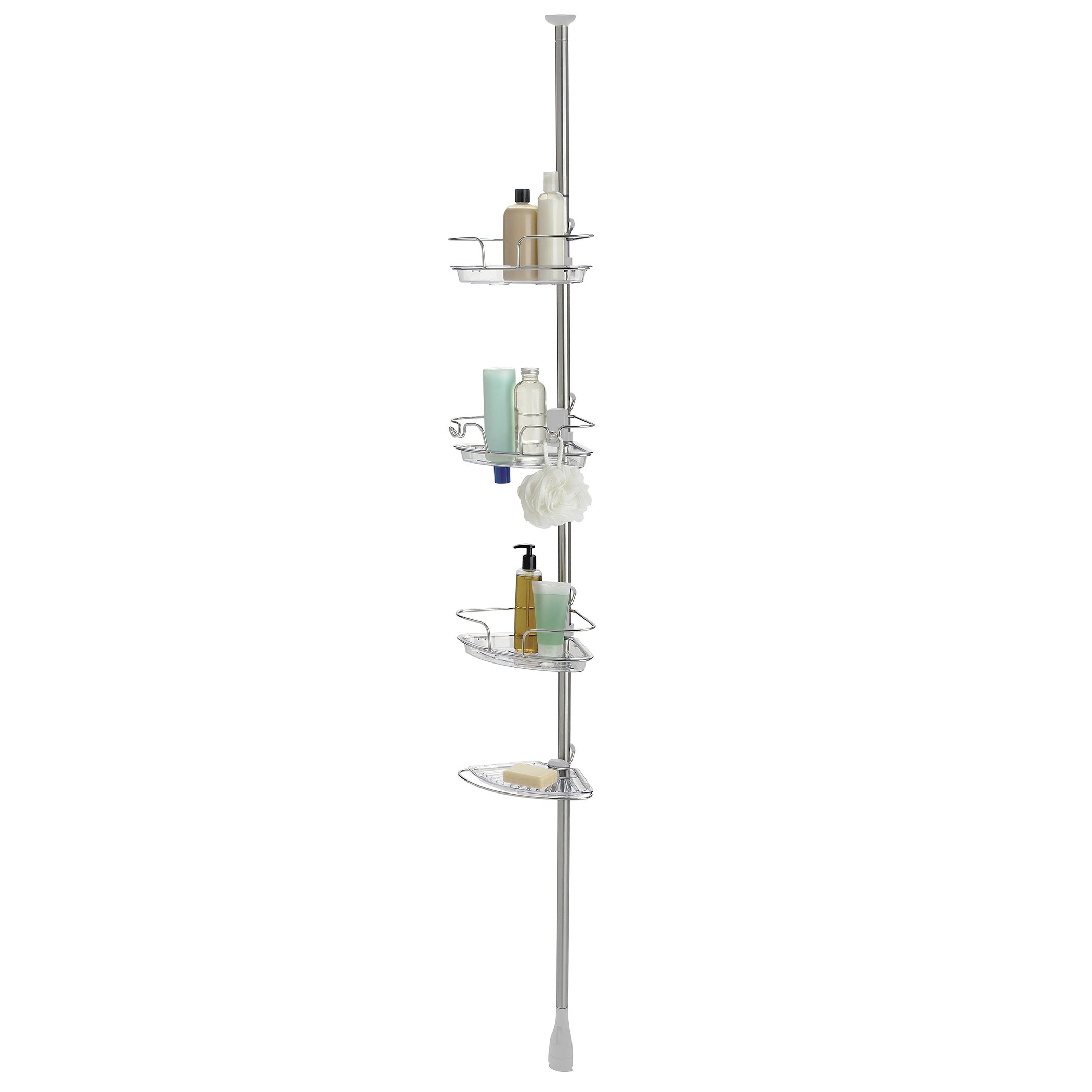 OXO Good Grips Lift and Lock Stainless Steel Tension Pole Shower Caddy