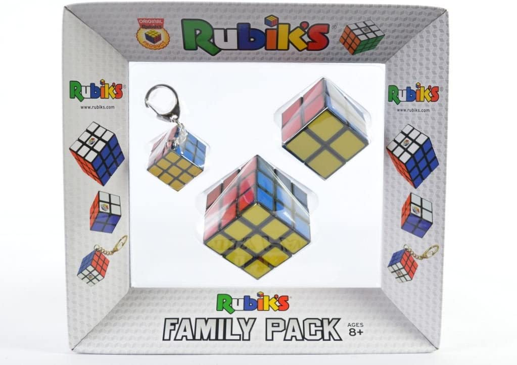 Family Pack Luxury Rubiks Cubes Set 2x2 3x3 & KeyChain 100 ...