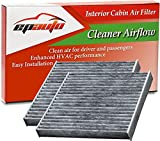 2 Pack - EPAuto CP285 (CF10285) Toyota Lexus Scion Subaru Replacement Premium Cabin Air Filter includes Activated Carbon