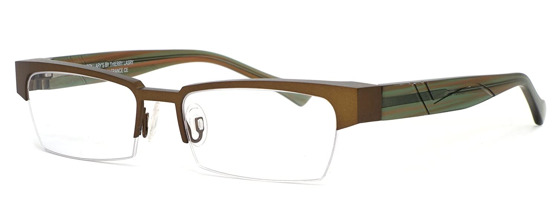 Harry Larys French Optical Eyewear Idoly in Gold Green ; DEMO LENS 456