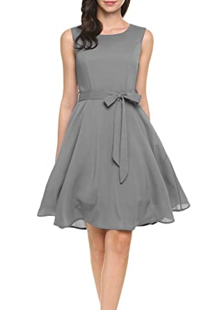 Zeagoo Damen Chiffonkleid Brautjungfernkleid Partykleid Hochzeit Kleid A-Linie  Kleider  Amazon.de  Bekleidung 02bc9edea6