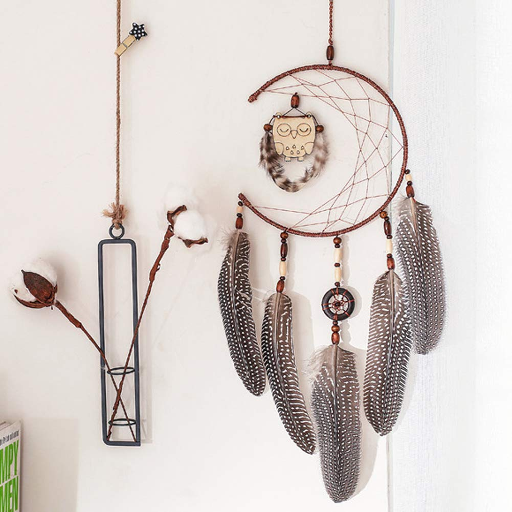 FIGEN Dream Catcher Handmade Traditional Feather Wall Hanging Home Decoration Decor Ornament Craft (A) LP0005