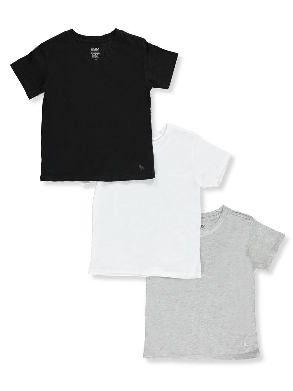 BUM Equipment Big Boys' 3-Pack Crew-Neck T-Shirts