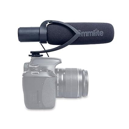 Commlite supercardioide Micrófono de cañón condensador direccional ...