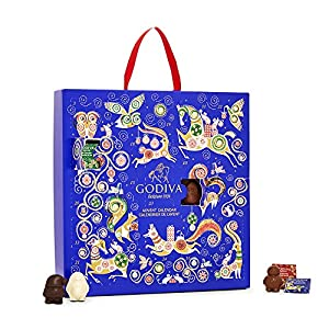 2018 Advent Calendar Chocolate by Godiva Chocolatier, 14.4 ounce