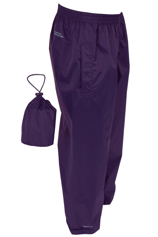 Mountain Warehouse Pakka Kids Rain Pants -Waterproof Packable Bottoms