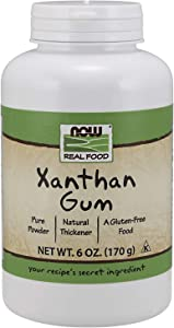 NOW Foods, Xanthan Gum Pure Powder, Kosher and Gluten-Free Natural Thickener, 6-Ounce