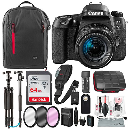 Canon EOS Rebel 77D DSLR Camera with EF-S 18-55mm ...