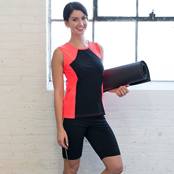 d4a3b78b034d5 HydroChic Womens Tidal Tank Chlorine Proof Sporty Sleeveless Swim n' Gym Top:  Amazon.ca: Sports & Outdoors