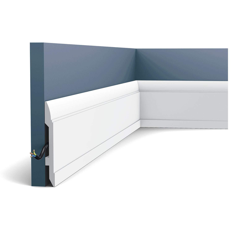 Plinthe Profil de d/écoration Orac Decor SX104 LUXXUS Protection de c/âble antichoc Moulure 2 m