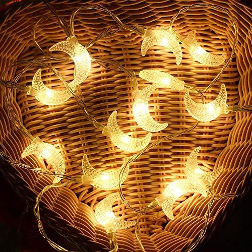 AceList 40 LED Moon String Lights for Eid Decorations,Ramadan Festival Lights, Christmas Thanksgiving Décor