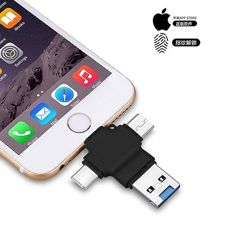 4 en 1 USB 3.0 Pen Drive OTG Tipo-C, Memoria USB Externa,