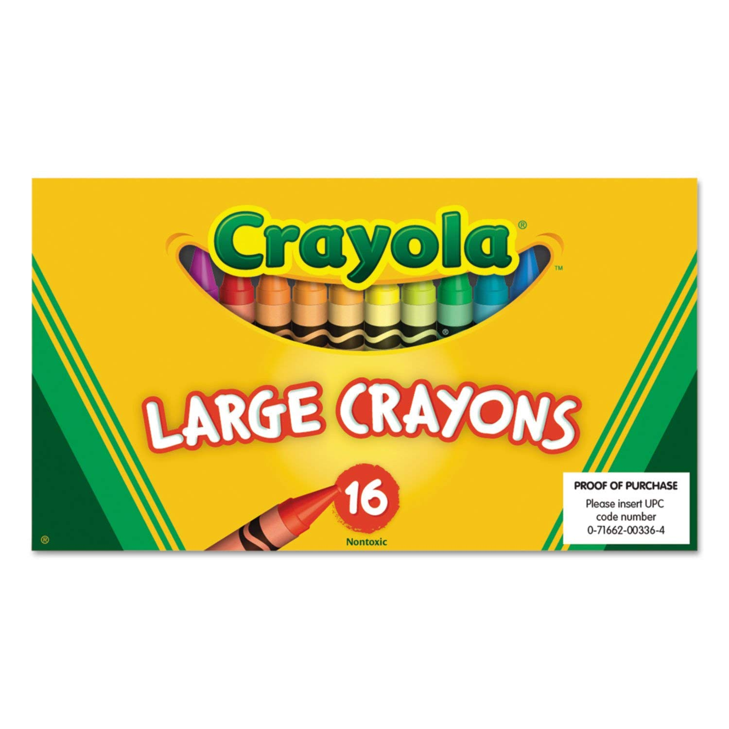 Wholesale CASE of 25 - Crayola Superior Quality Large Crayons-Large Crayons, Lift Lid, 16/BX, Ast
