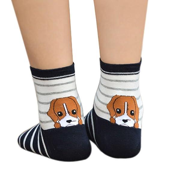 DEELIN Calcetines Moda Mujer 1 PairsWomens Cute Funny Socks Casual Cotton Crew Calcetines De Animales: Amazon.es: Ropa y accesorios