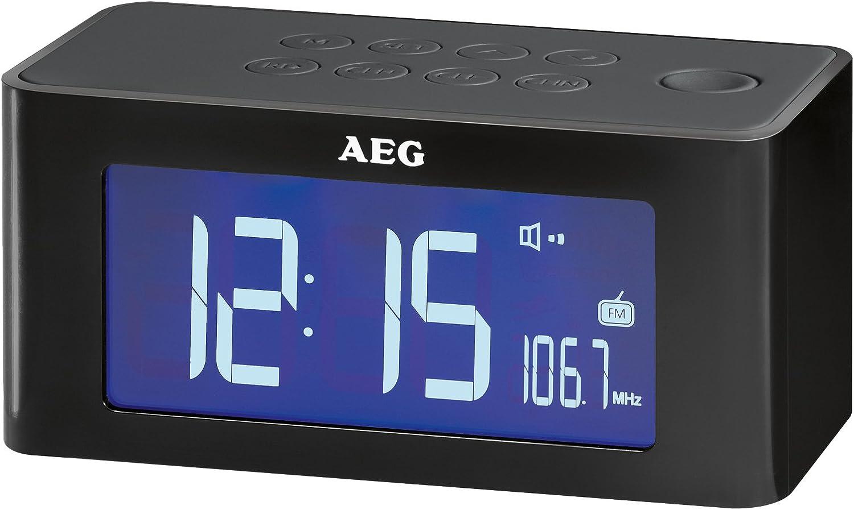 AEG MRC 4140 I - Radio despertador con altavoz por inducción ...