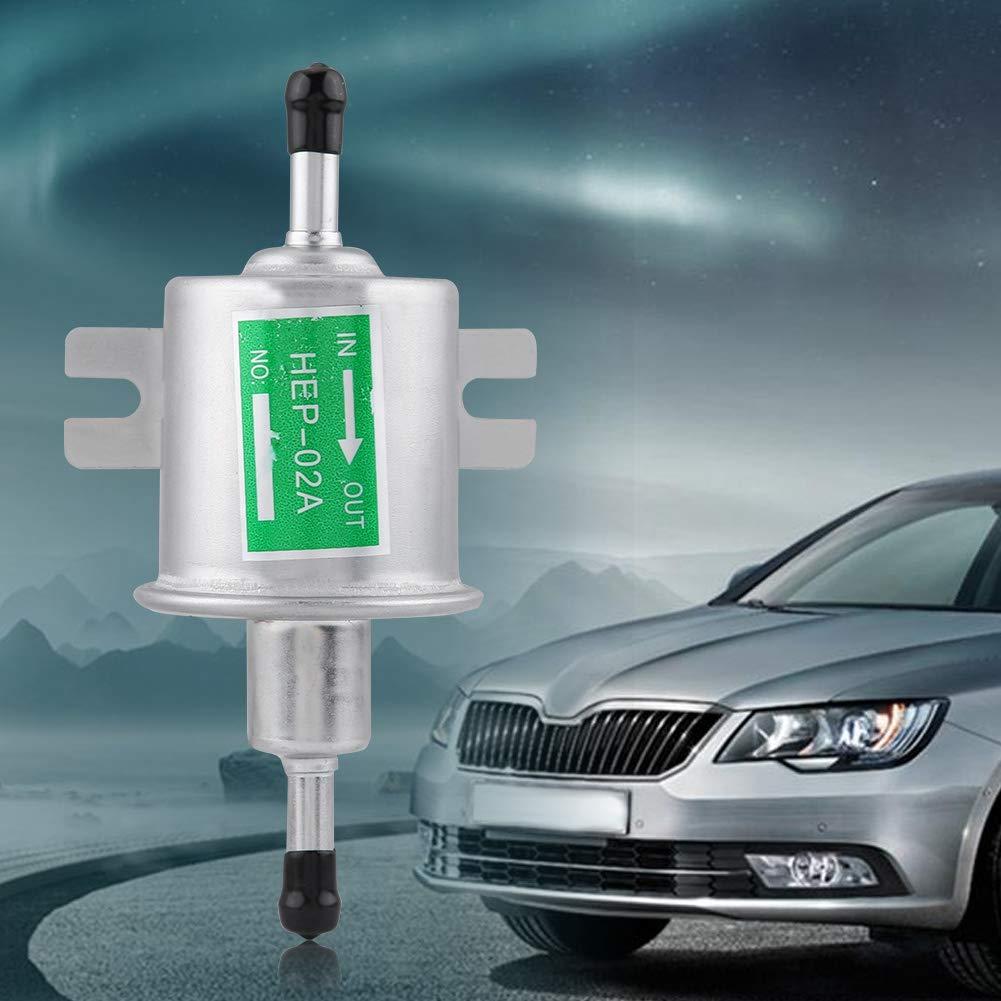 KIMISS 12V Universal Lega di Alluminio Benzina Benzina Pompa di Benzina elettrica Generatori di Gas e Diesel HEP-02A