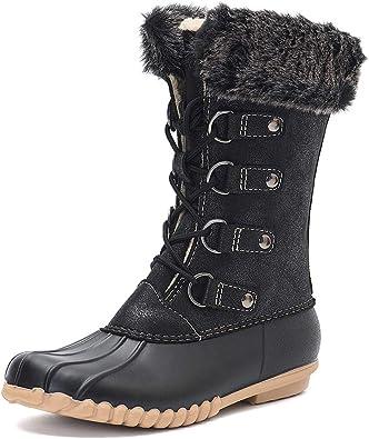 Duck01 Women/'s Winter Duck Boots Lace Up Snow Rain Waterproof Boots SIZE 6