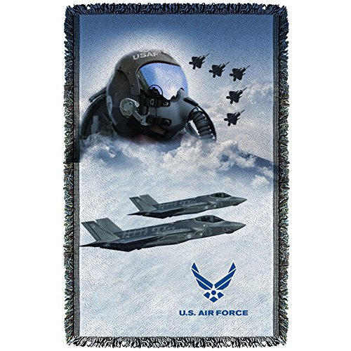 Air Force - Pilot Woven Throw Throw Blanket 35 x 57in
