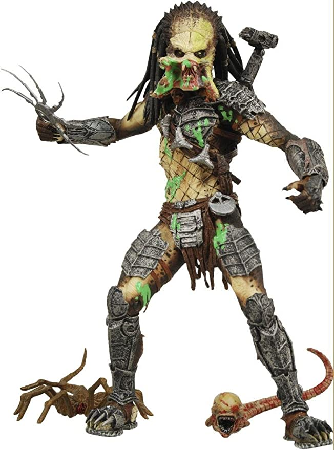 Alien VS. Predator: Requiem NECA Action Figure Series 4 Battle Damaged Unmasked Predator by Alien/Predator: Amazon.es: Juguetes y juegos