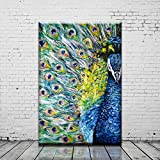Peacock Wall Artwork Prints Oil Painting Art Modern Abstract on the Canvas