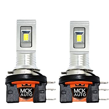 Mck Auto 2700010041 H15 Cree Blanco Coche Led Bombillas 55 W Drl Luces de Conducción Diurna Doble Filamento Canbus Ea2L2: Amazon.es: Coche y moto