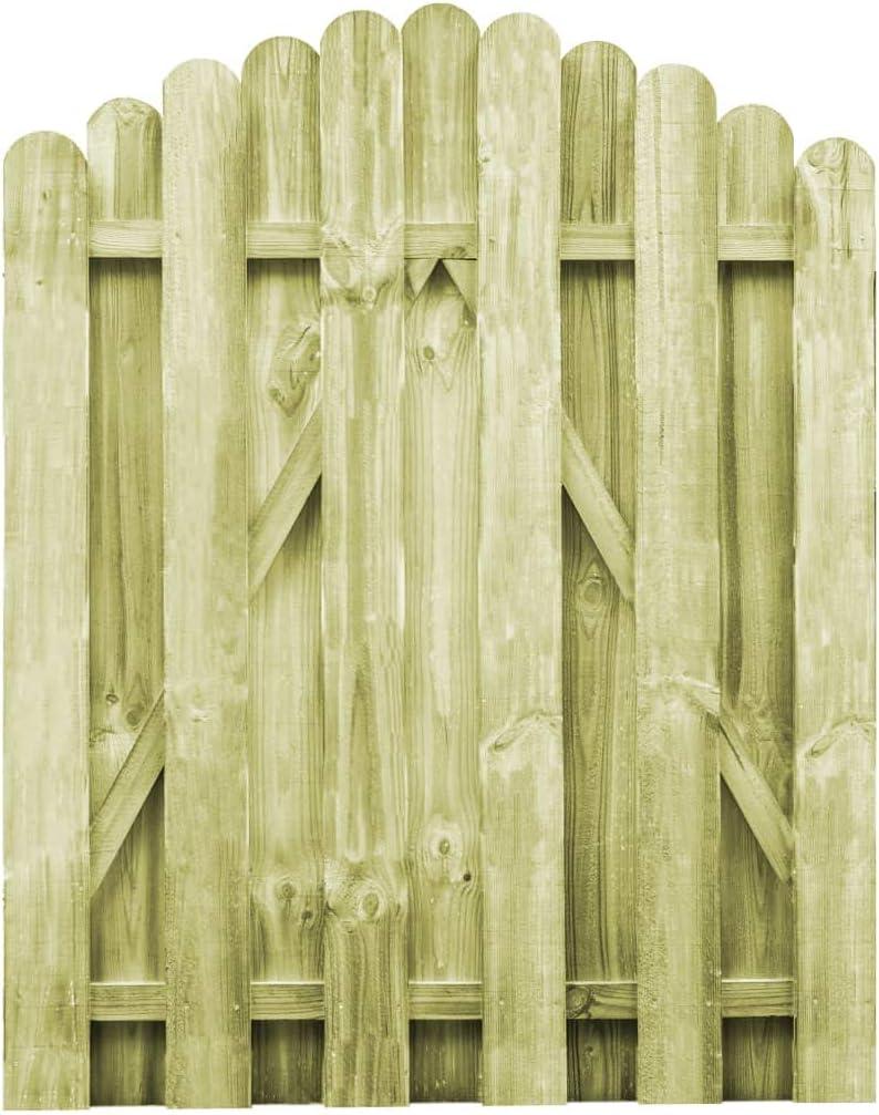 vidaXL Puerta Arqueada de Jardín Madera de Pino FSC 100x125 cm Cancela Patio