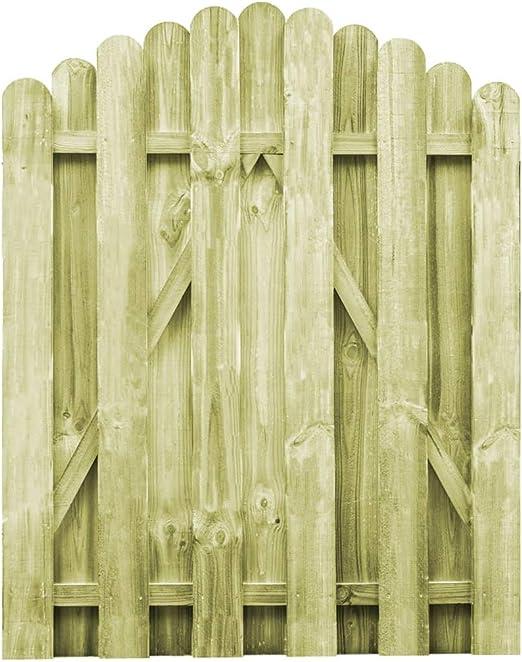 ghuanton Puerta de jardín Madera de Pino impregnada 100x125 cm arqueadaBricolaje Vallas de jardín Puertas de jardín: Amazon.es: Hogar
