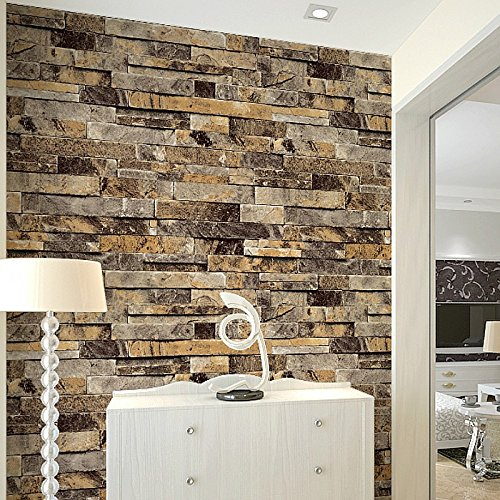 Qihang brick wall wallpaper embossed textured bricks for Home wallpaper uae