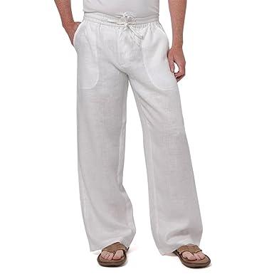 4e5a824b35 Liash Stylish Linen Beach Pant for Men - Linen Drawstring Linen ...