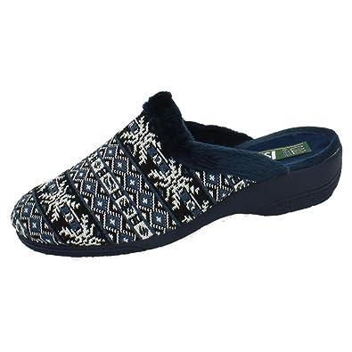 ISASA 0920/279 Zapatillas con CUÑA Mujer Zapatillas CASA Azul 39