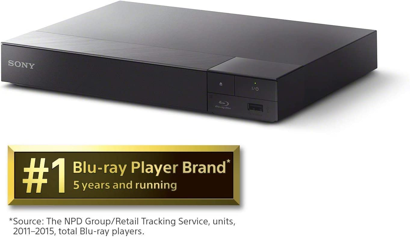 Sony S6700 4K-Upscaling Blu-ray DVD Player with Super Wi-Fi + Remote Control, Bundled with Tmvel High-Speed HDMI Cable with Ethernet + Free Tmvel Power Bank