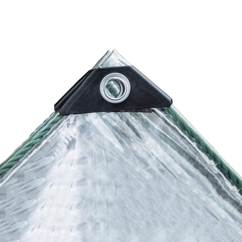 2x2.5m GUOF BÂche imperméable Transparente BÂche Transparent épaississant Liseret Plastique poreux bÂche imperméable fenêtre Balcon Culture de Serre Film Housse de Pluie Anti-poussière (Taille   2x2m)
