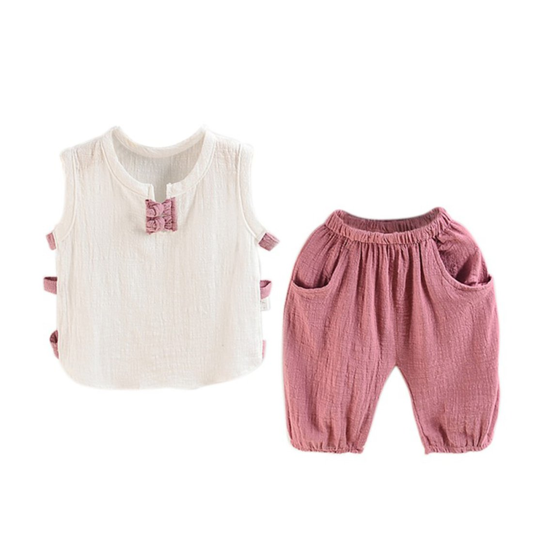 Shorts Top /& Pants Outfits daqinghjxg 2 Pcs Sets Baby Boys Suit Kids Sleeveless T-Shirt